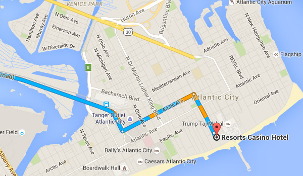 directions to atlantic city resorts